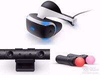 Ps VR , Camera, 2 motion controllers, 1 game