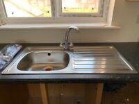 BRAND NEW Carron Phoenix single bowl sink and tap.