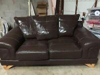 Leather 2 seater sofa for sale