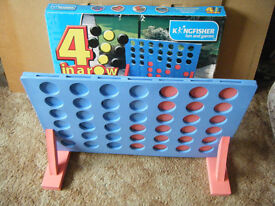 "Large ""4 IN A ROW GAME"". Ideal for indoor or patio. Complete with solid foam parts."