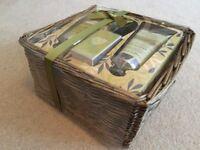 M&S Huile Hand Cream & Foot Butter gift set in Wicker Basket