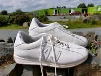 Gents white Armani trainers