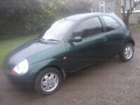 FORD KA 1-3 STYLE 2002 (51 PLATE) 73,000 MILES ONLY. VERY CLEAN AND TIDY. EXCELLENT RUNNER ANY TRIAL