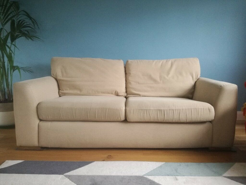 3 seater cream sofa