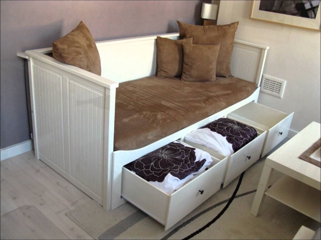 Ikea Hemnes Daybed 3 Large Storage Drawers Single Bed