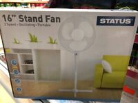 "Bran stand fan 16"" oscillating very good quality"