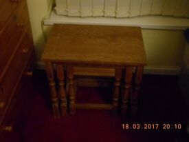 Nest set of 3 wooden tables