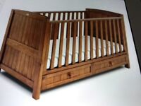 Silver Cross Cot beds, wardrobe and changing table