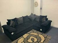 Pending delivery beautiful black Harvey's corner sofa delivery 🚚 sofa suite couch furniture