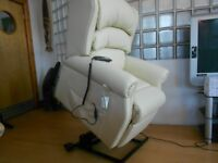 Brand New Riser/Recliner Top Quality Leather Mobility Chair Twin Motors