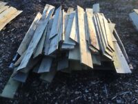 100+ Short lengths of feather edge boards planks timber