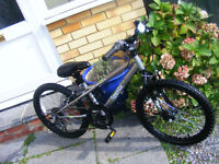 """BOYS 20"""" WHEEL BIKE WITH GEARS HARDLY USED AGE 7+ GREAT WORKING ORDER"""