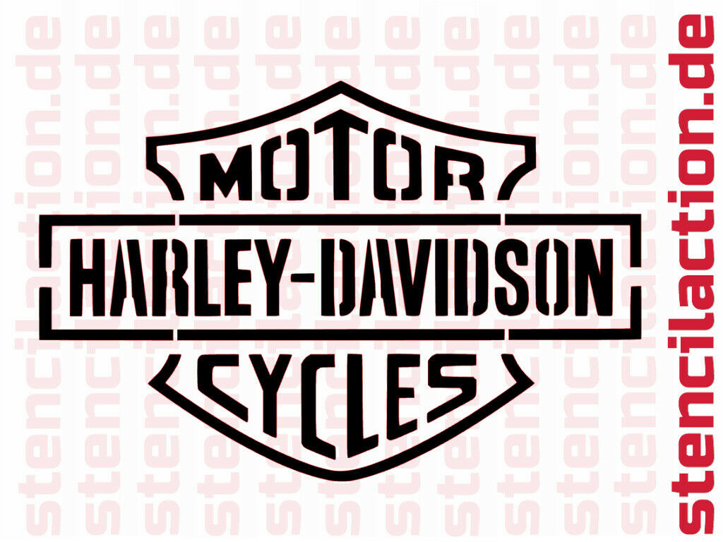 "Schablone - Harley Davidson ""Cycles"" 26x18 cm - Stencil Leinwand Airbrush"
