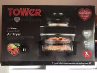 TOWER AIRWAVE LOW FAT AIR FRYER BNOB