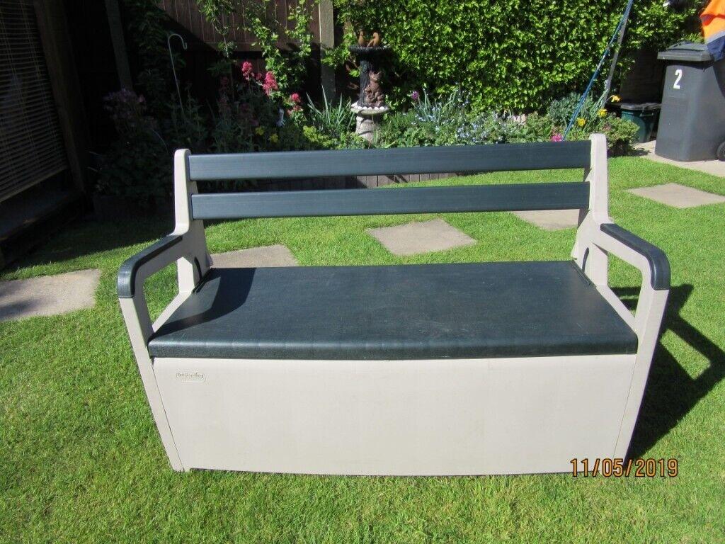 Tremendous Keter Outstanding Plastic Storage Bench With Seat And Backrest Vgc In Poulton Le Fylde Lancashire Gumtree Dailytribune Chair Design For Home Dailytribuneorg