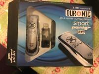 Duronic SP400 (Silver/Chrome) Smart-Pointer Wireless Presenter with Mouse Function and Laser Pointer