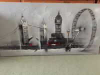 Canvas painting of London skyline in excellent condition