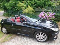 Peugeot 206 cc - 1 year MOT