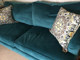Opulence Teal 3 seater sofa , hardly used