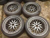 """19"""" Staggered BBS LMs Alloys 5x120 - as new tyres"""