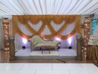 Gold and ivory Throne sofa/chaise for sale