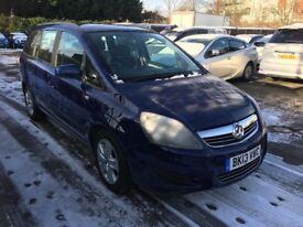 Vauxhall Zafira 1.6 i VVT 16v Exclusiv 5dr ,Ready PCO