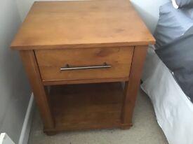 Oak Bedside Tables x2