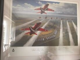 Limited edition of Red Arrows at 1991 British GP by Mark Postlethwaite