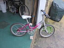 RALEIGH STARZ PINK GIRLS BICYCLE