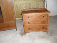 ANTIQUE OAK DRAWERS , BALLYNAHINCH