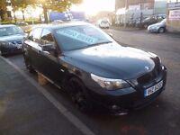 BMW 530D M Sport,Carbon Black 4 dr saloon,FSH,full MOT,remapped,DPF removed,full leather interior