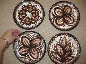 4 x decorative collectible plates