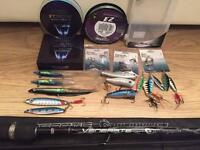 "Rod 8"" Abu Garcia + lines and lures"