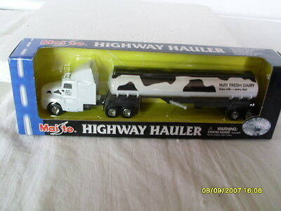 MAISTO HIGHWAY HAULER MAY FRESH DAIRY TANKER TRAILER TRUCK for sale  Shipping to Canada