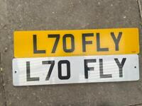 Cherished number plate L70 Fly