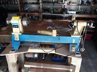 Scheppach mini wood turning lathe