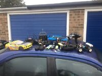 Job lot of Rc cars all work tamiya tl01 and hip