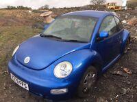 Volkswagen Beetle petrol spare parts bumper bonnet radiator