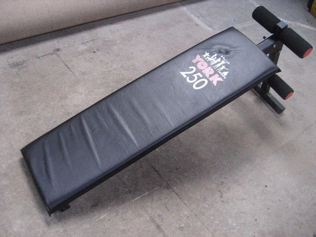 YORK 250 EXERCISE BENCH YORK FITNESS BENCH YORK SIT UP BENCH YORK DECLINE BENCH