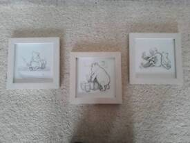 3 x Winnie the Pooh pictures