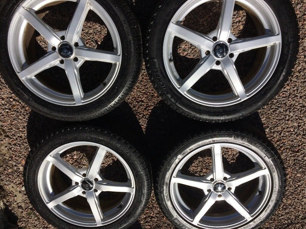 Set of alloy wheels with tyres 5 X 108 PCD