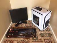 Budget Media Gaming Computer PC Complete Setup with Monitor (Intel, 3GB, ATI Radeon Graphics)