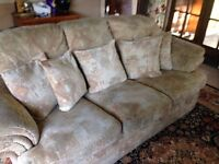 3 seater sofa & 2 chairs - For Sale