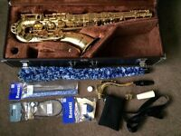 YAMAHA TENOR SAX SAXOPHONE YTS 32: very popular early SEMI PRO MODEL in original Yamaha case