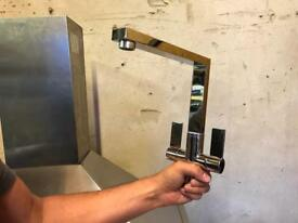 Franke burn chrome kitchen mixer tap