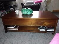 coffee table solid wood modern large 111x 60 cm height 40cm bargain £49