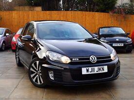 2011 VW GOLF 2.0 TDI GTD DSG ***F/LIFT, 1 OWNER, FVWSH, SAT NAV*** *** gti gt mk6 a3 black edition