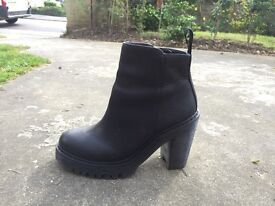 Dr Martens heeled black boots (size 5) - pretty much brand new (worn 5 times only)