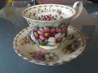 Royal Albert flower of the month cup and saucer set