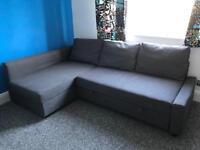 Ikea Friheten Corner Sofa Bed Dark Grey